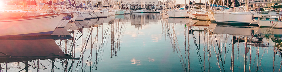 марина с яхтами